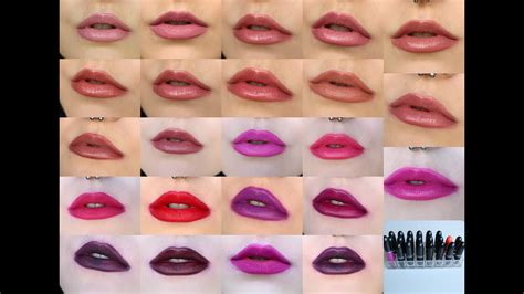 mac lip color mac lipstick shades on the of