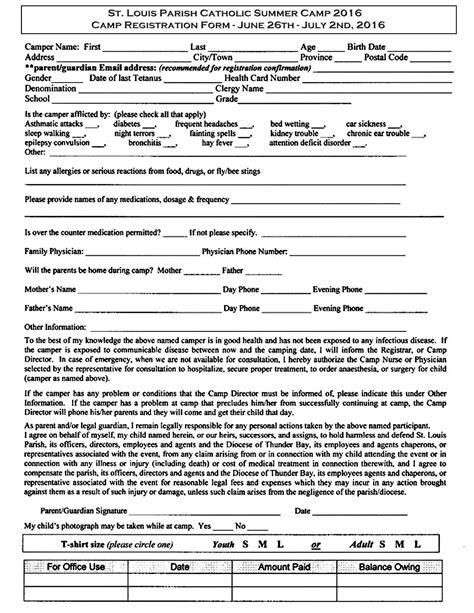 program registration form template registration form images cv letter and format