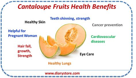 fruit nutrition cantaloupe fruit nutritional facts health benefits diary