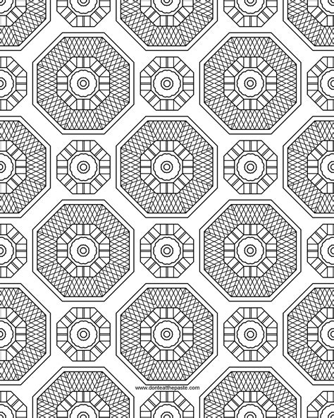 don t eat the paste pattern and mandala coloring page