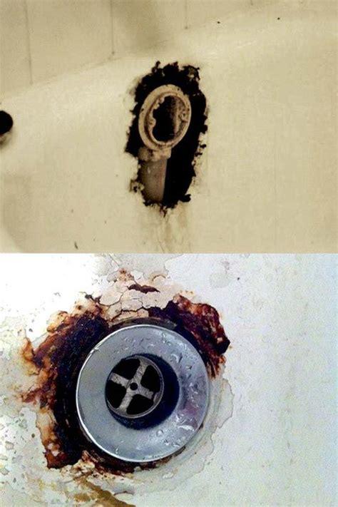 bathtub drain overflow rust hole repair ssc home pinterest bathtubs  rust