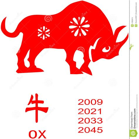 zodiac of ox year stock images image 4785974