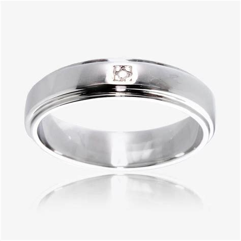 Eheringe Silber Mit Diamant by Sterling Silver Band Ring