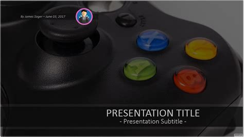 game controller powerpoint template 9822 free powerpoint