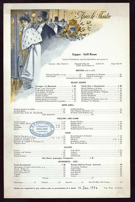 supper menus chop suey automats diamondback terrapin michael lesy