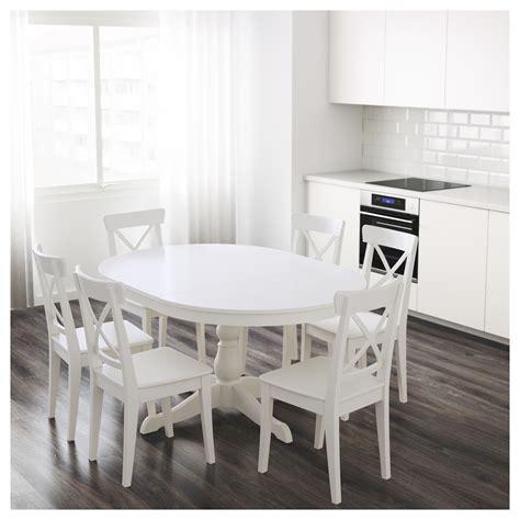 Dining Table Ikea White Ingatorp Extendable Table White 110 155 Cm Ikea