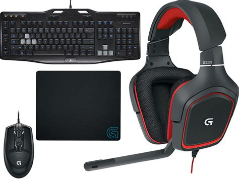Ultimate Logitech Gaming Package 30 logitech gaming headset keyboard mouse mouse pad package 59 fs