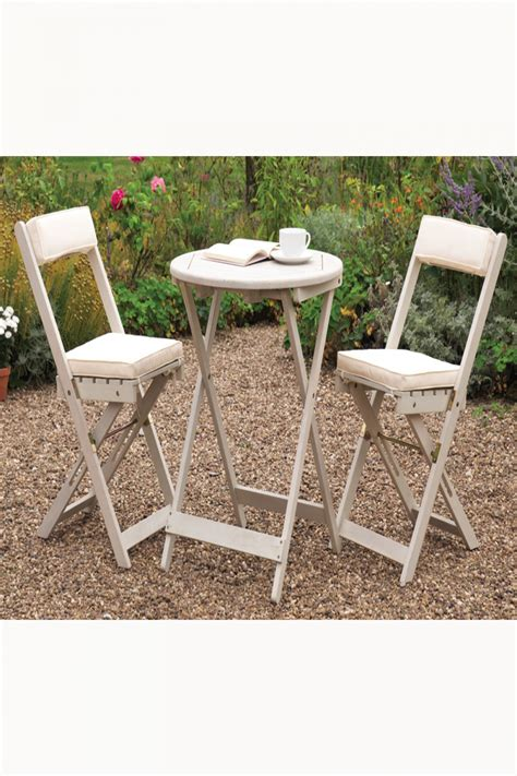 bistro chair cushions uk raffles acacia bistro set with cushions white uk