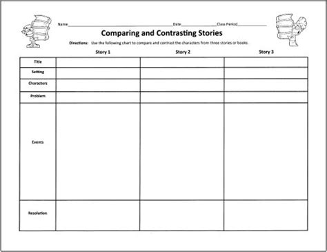 comparing themes in literature graphic organizer free graphic organizers for teaching literature and reading