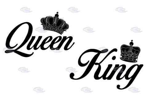 king and queen with crowns shirts signs website decals flyers