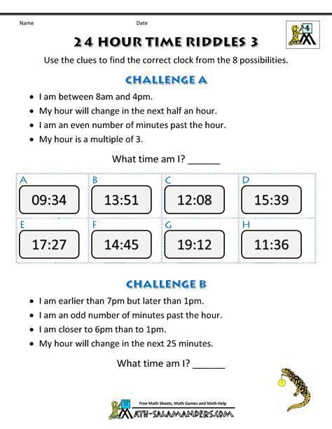 Measurement Time Grade 4