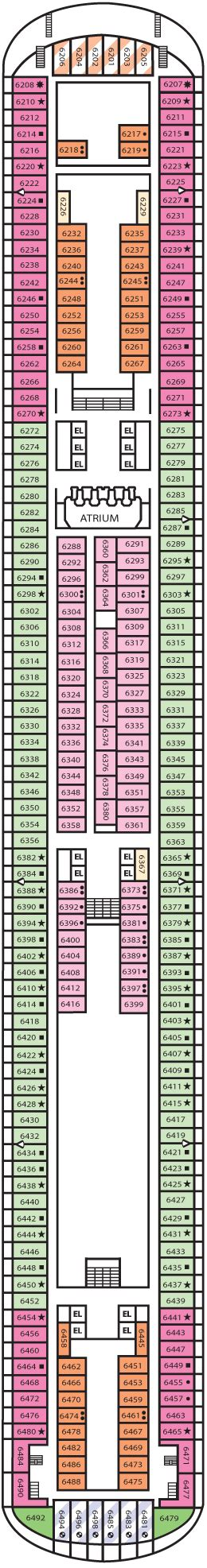 carnival dream floor plan carnival dream cruise review for cabin 6252