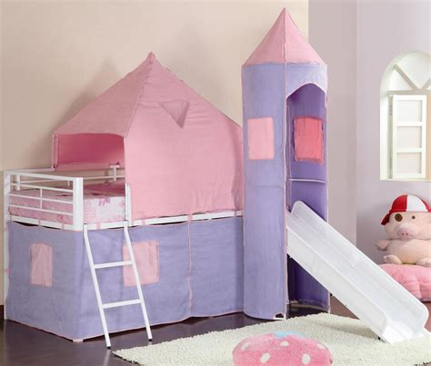 girls twin loft bed pink castle twin loft bed for girls