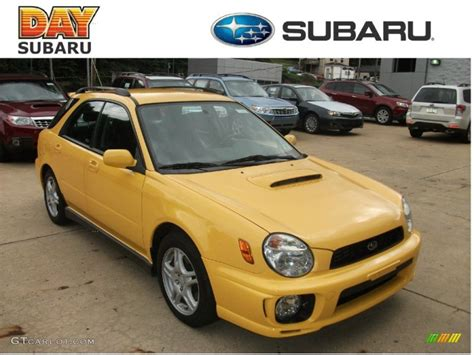 yellow subaru wagon 2003 sonic yellow subaru impreza wrx wagon 53857344