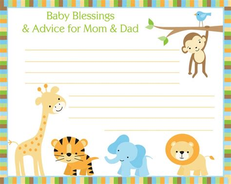 New Parent Advice Card Template by New Parent Advice Card Template Images