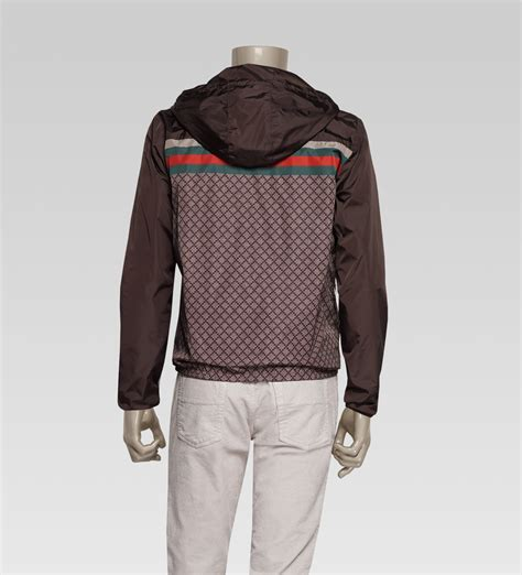 Gucci Jacket by Lyst Gucci Iconic Kway Jacket In Brown For