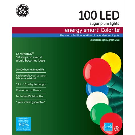 ge s energy smart colorite led miniature lights ge energy smart 174 100ct led colorite 174 sugar plum christmas