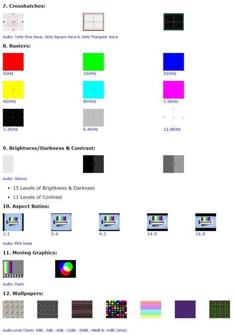 pattern test sound tv test card video pattern generator test tones dvd