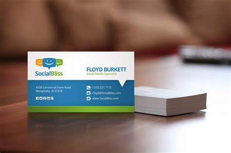 business cards with social media icons template social media business card business card templates on