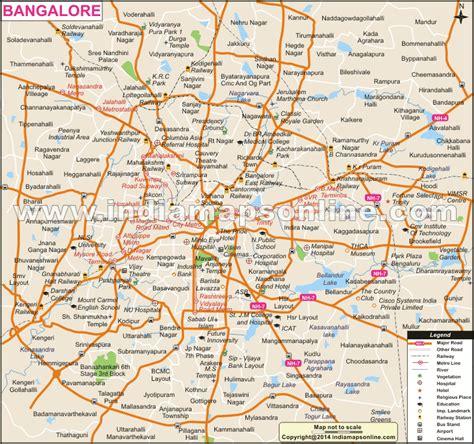 bangalore city map images bangalore map in kannada