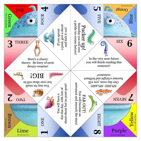 Fortune Tellers Origami - a pout pout fish cootie catcher the pout pout fish