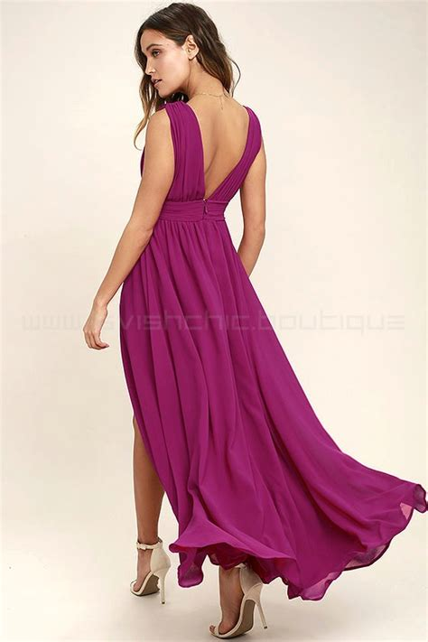 Maxi Magenta heavenly hues magenta maxi dress