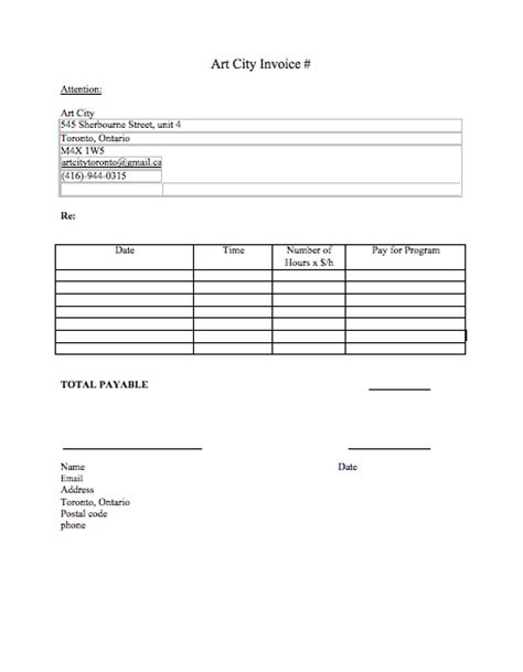 mock invoice template pin our sle invoice on