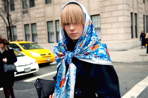 street style hair scarves from russia with love silk scarves why we love them