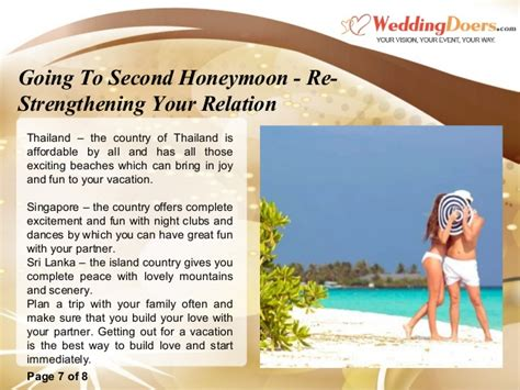 Re Relation going to second honeymoon re strengthening your relation
