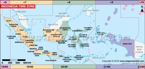 indonesia time zone map current local time  indonesia