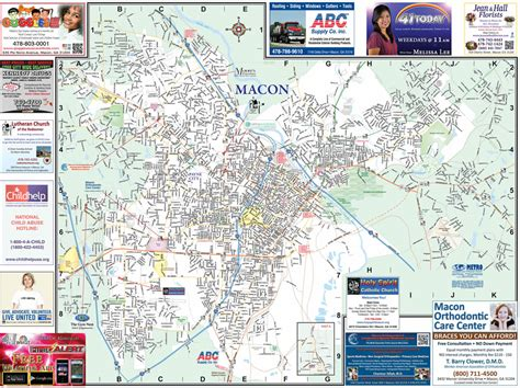Moores Furniture Macon Ga by Macon With Mercer City Map