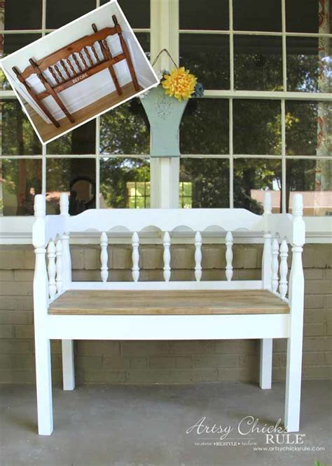 diy bench from headboard diy headboard bench artsy chicks rule 174