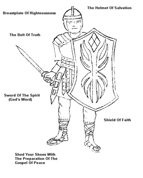 full armor of god coloring image armor of god and fruits