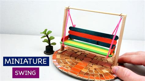 swing craft miniature swing for fairy garden 2 simple easy