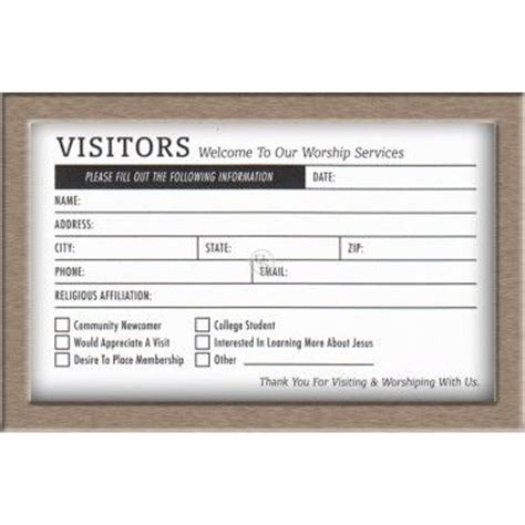 Church Visitor Card Template Downloads by 30 Images Of Church Guest Information Card Template