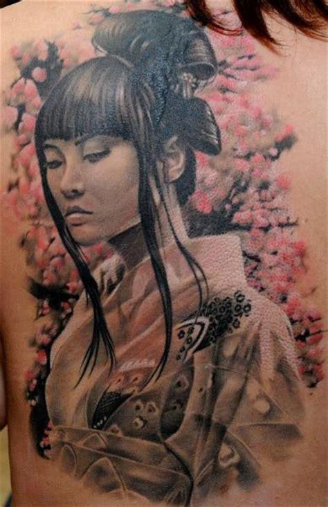 geisha realistic tattoo realistic back geisha tattoo by radical ink