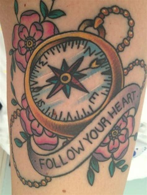 tattoo compass heart follow your heart compass tattoo tattoos book 65 000
