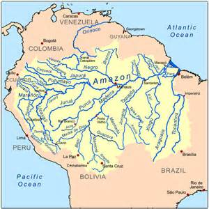 south america map with rivers map of rivers in south america