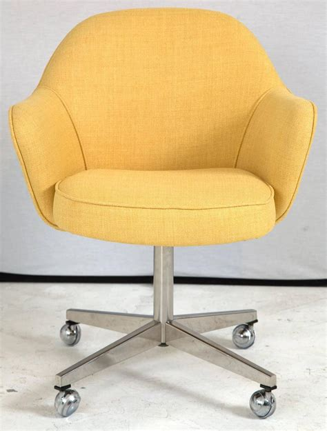 Office Chairs Yellow Knoll Desk Chair In Yellow Microfiber For Sale At 1stdibs