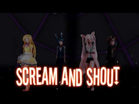 Scream And Shout Meme - mmd fnaf don t stop meme mangle and toy chica by desu