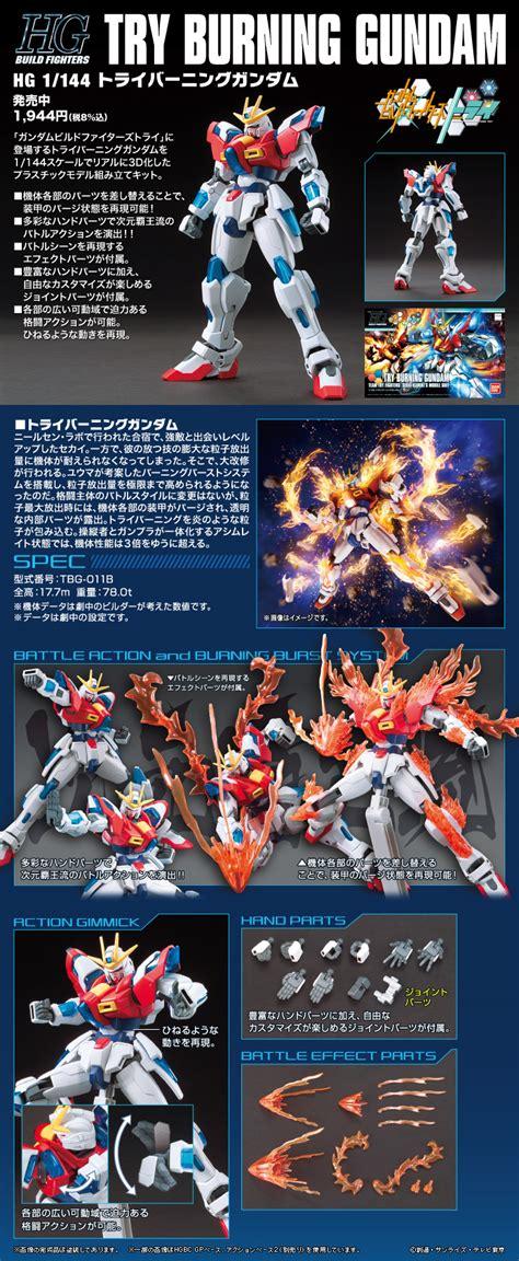 Hg 1 144 Try Burning Gundam Hobby hgbf 1 144 try burning gundam hobby frontline