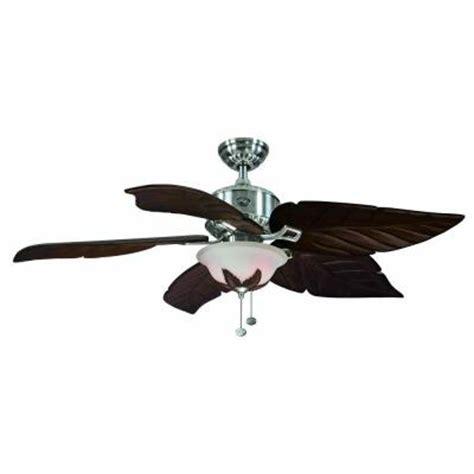 hton bay antigua 56 in brushed nickel ceiling fan