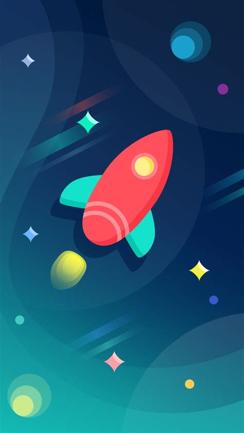 rocket ship colorful space iphone wallpaper iphone