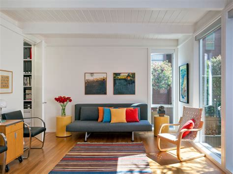 smart decoration  narrow living room interior