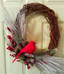 seasonal winter wreath christmas grapevine wreath