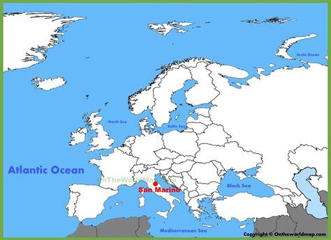 san marino on map of europe san marino location on the europe map