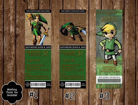 free printable zelda birthday invitations novel concept designs legend of zelda birthday party