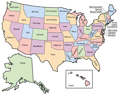usa map with states labeled clip united states map color labeled abcteach