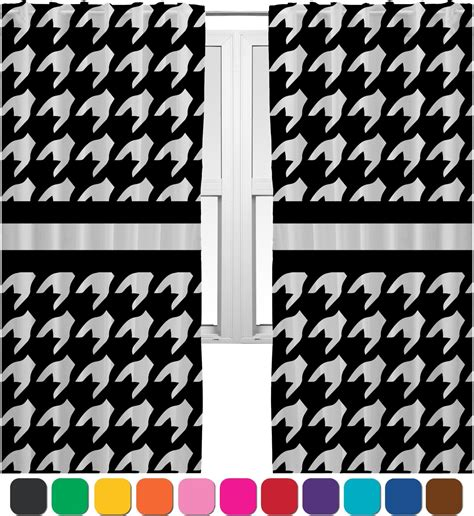 Houndstooth Drapes houndstooth curtains 2 panels per set personalized baby n toddler