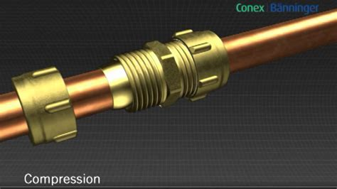 Conex Plumbing by Conex Compression Plumbing Fitting Brass Compression